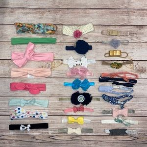 28 Infant/Toddler Headbands Baby Bows Lot